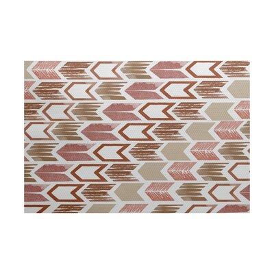 Borel Geometric Taupe/Pink Area Rug Rug Size: 4 x 6