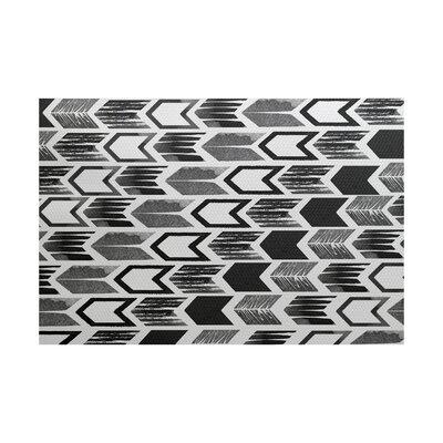 Borel Geometric Black Area Rug Rug Size: 5 x 7