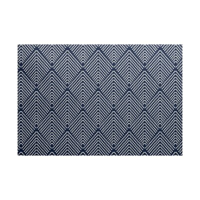 Borel Geometric Navy Blue Area Rug Rug Size: 3 x 5