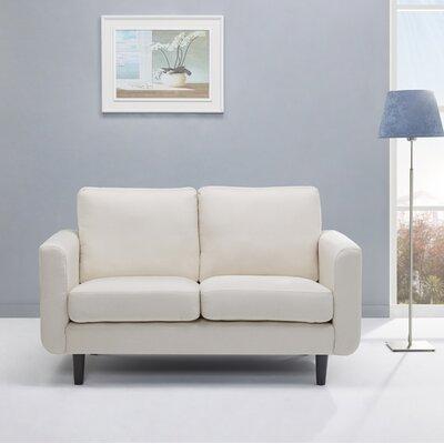 Ancheta Loveseat Upholstery: Beige