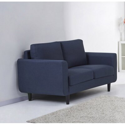 Ancheta Loveseat Upholstery: Blue