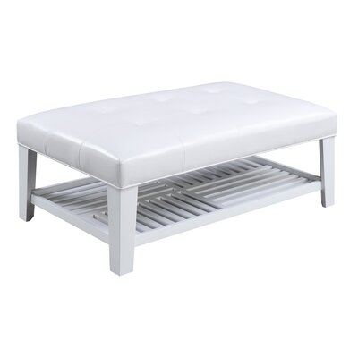 Ragnar Cocktail Ottoman Upholstery/Finish: White