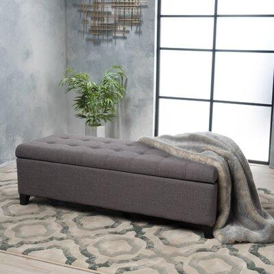 Morrisey Storage Ottoman Upholstery: Gray