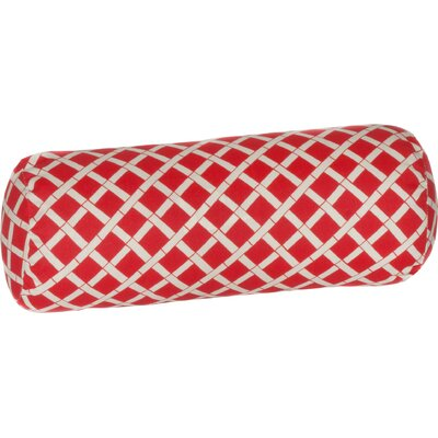 Cade Outdoor Bolster Pillow Color: Red