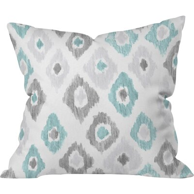 Cletus Quiet Ikat Outdoor Throw Pillow Size: 18 H x 18 W x 5 D