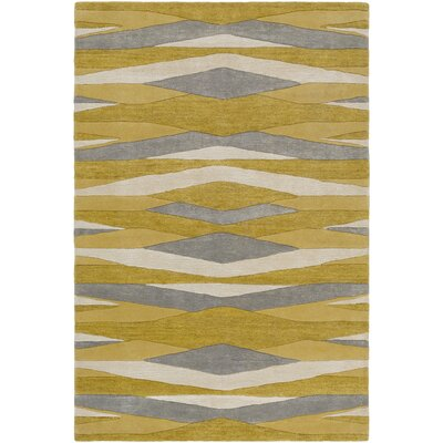 Melitta Hand-Tufted Wheat/Mustard Area Rug Rug Size: Rectangle 9 x 13