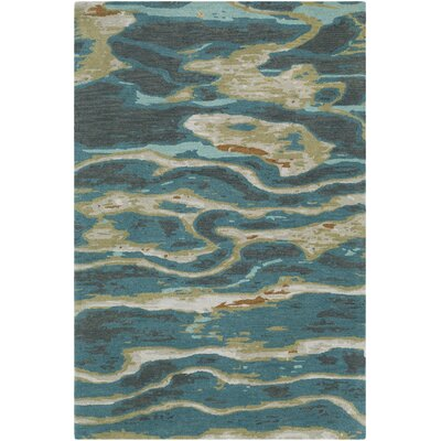 Borges Hand-Tufted Emerald/Olive Area Rug Rug Size: Rectangle 2 x 3