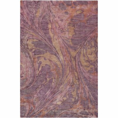 Moira� Hand-Tufted Rose/Eggplant Area Rug Rug Size: Rectangle 5 x 76