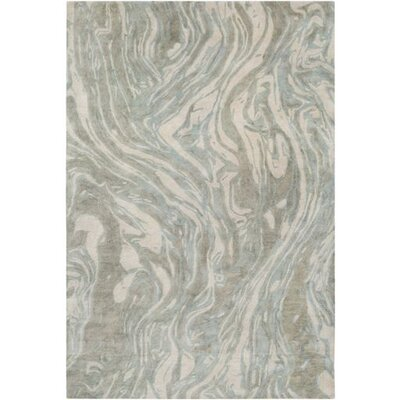 Moira� Hand-Tufted Teal/Tan Area Rug Rug Size: Rectangle 5 x 76