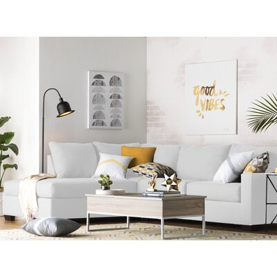 Hannah Sectional Upholstery: Ice