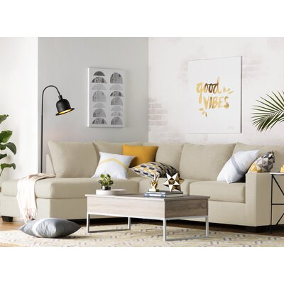 Hannah Sectional Upholstery: Linen