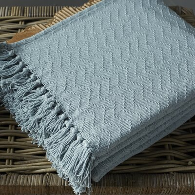 Pyxis Cotton Throw Blanket Color: Gray
