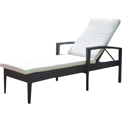 Lasater Chaise Lounge with Cushion Fabric Color: Sunbrella Heather Beige