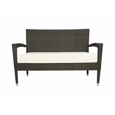 Lasater Loveseat with Cushion Color: Sunbrella Vellum