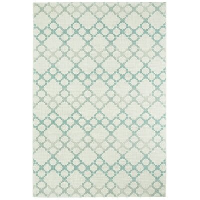 Bank Street Blue/Gray Outdoor Area Rug Rug Size: 710 x 11