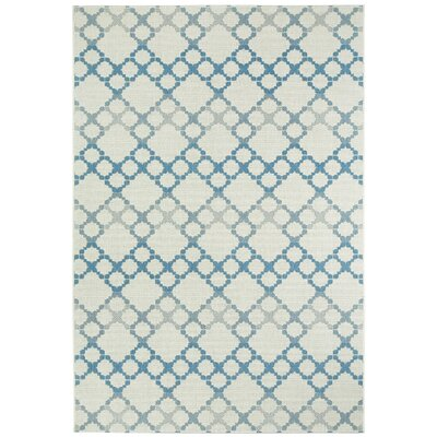 Morgan Blue/Gray Geometric Outdoor Area Rug Rug Size: Rectangle 53 x 76