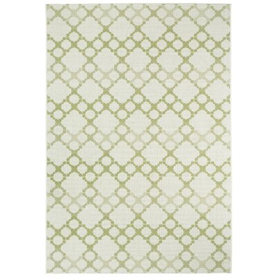 Morgan Green Santorini Trellis Outdoor Area Rug Rug Size: 53 x 76