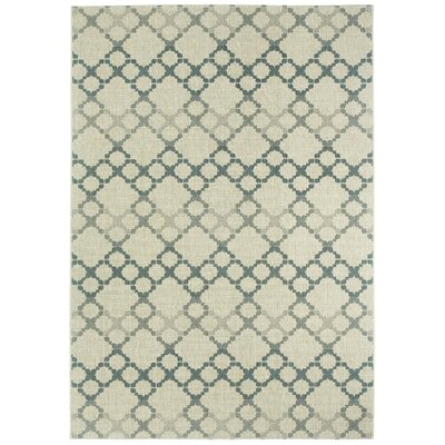 Morgan Coal Santorini Trellis Outdoor Area Rug Rug Size: Rectangle 311 x 56