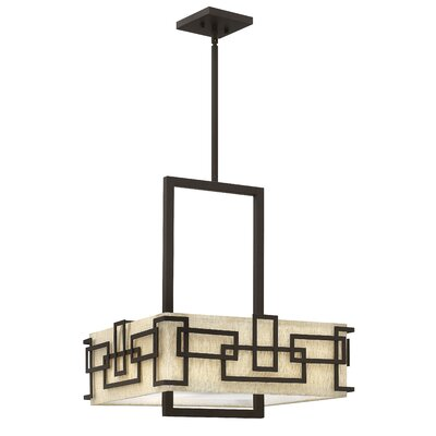 Goodner 3-Light Shaded Chandelier Size: 21.25 H x 18 W