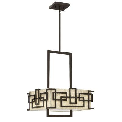 Krull 3-Light Shaded Chandelier Size: 20 H x 15.25 W