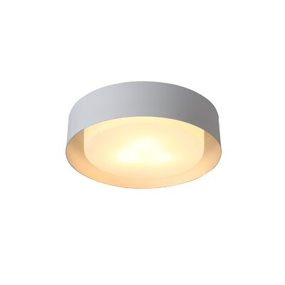 Neophytos 3-Light Flush Mount Finish: White and Silver