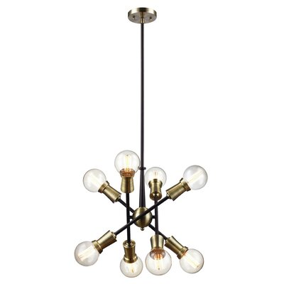 Belk 8-Light Sputnik Chandelier Finish: Oil Rubbed Bronze/Antique Brass