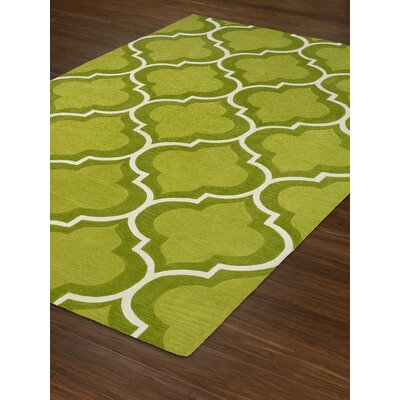 Mitchel Lime Area Rug Rug Size: 36 x 56