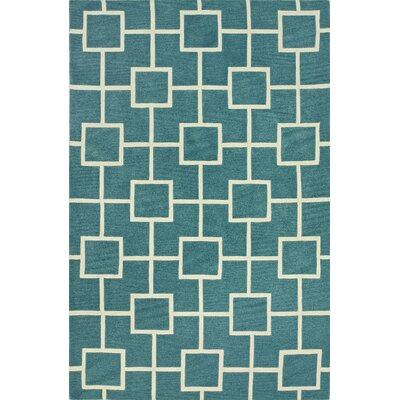 Oriana Peacock Area Rug Rug Size: Rectangle 36 x 56