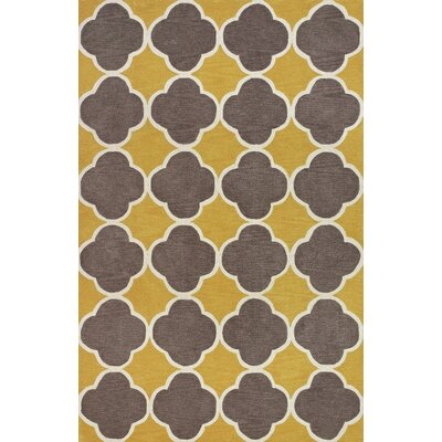 Mitchel Dandelion/Brown Area Rug Rug Size: 36 x 56