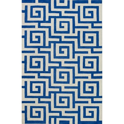 Carreiro Cobalt Area Rug Rug Size: Rectangle 36 x 56