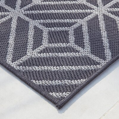 Aker Onyx/Gray Indoor/Outdoor Area Rug Rug Size: 8 x 10