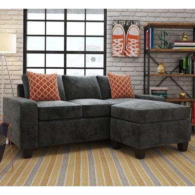 Morpheus Reversible Sectional Upholstery: Vermont Gray/Spectator Spa