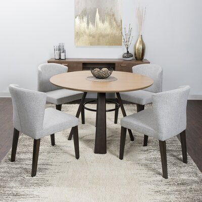 Amiyah Side Chair Upholstery: Gray