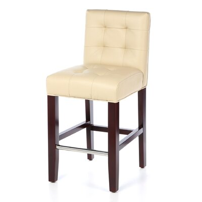 Carreon 23.4 Bar Stool Upholstery: Cream
