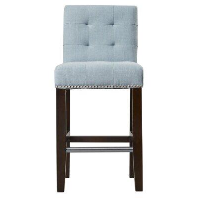 Carreon 23.4 Bar Stool Upholstery: Sky Blue