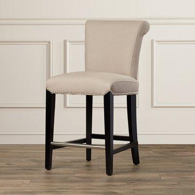 Carrico 24 Bar Stool Upholstery: Beige