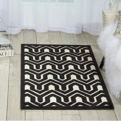 Zopyros Black/Ivory Area Rug Rug Size: Rectangle 22 x 39