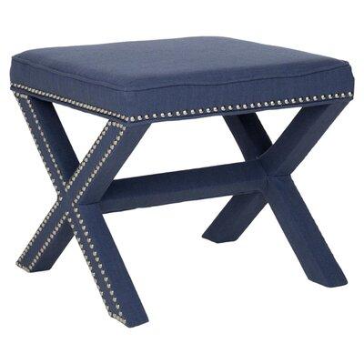 Leia Ottoman Upholstery: Navy