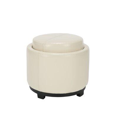 Crisler Storage Ottoman Upholstery: Flat Cream