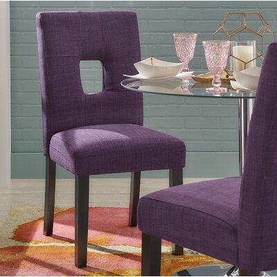 Belvin Side Chair Upholstery: Purple