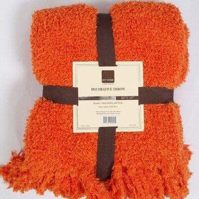 Bracy Jumbo Fluffy Blanket Color: Burnt Orange