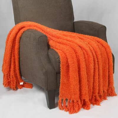 Cheval Jumbo Fluffy Blanket Color: Burnt Orange