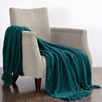 Cheval Jumbo Fluffy Blanket Color: Dark Teal