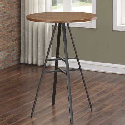 Aquirre 3PC Pub Height Table Set with Backless Swivel Stools