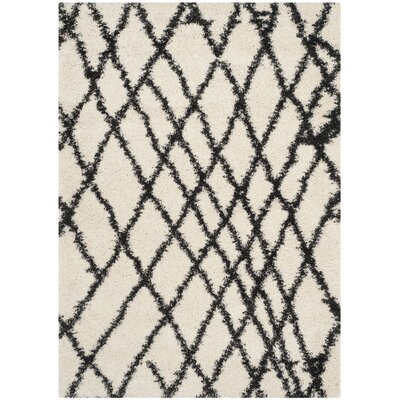 Malibu Ivory/Charcoal Area Rug Rug Size: Rectangle 86 x 12