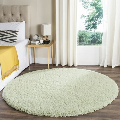 Carrabelle Lime Area Rug Rug Size: Round 6