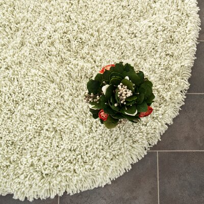 Carrabelle Lime Area Rug Rug Size: Round 4