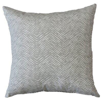 Alcazar Cotton Throw Pillow Color: Storm