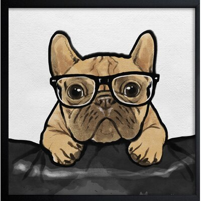 French Bulldog Original Painting Format: Framed, Size: 14