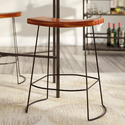 Cosmas 25 Bar Stool Finish: Chestnut